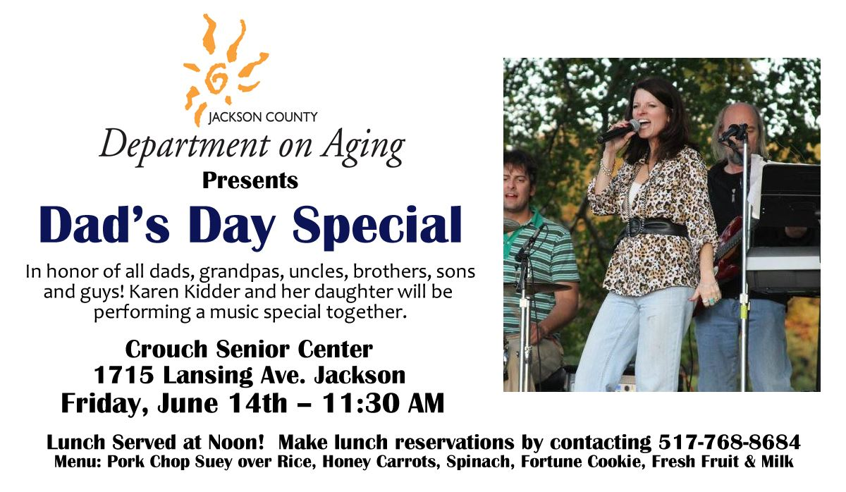 Dads Day Special at the Jackson County Department on Aging